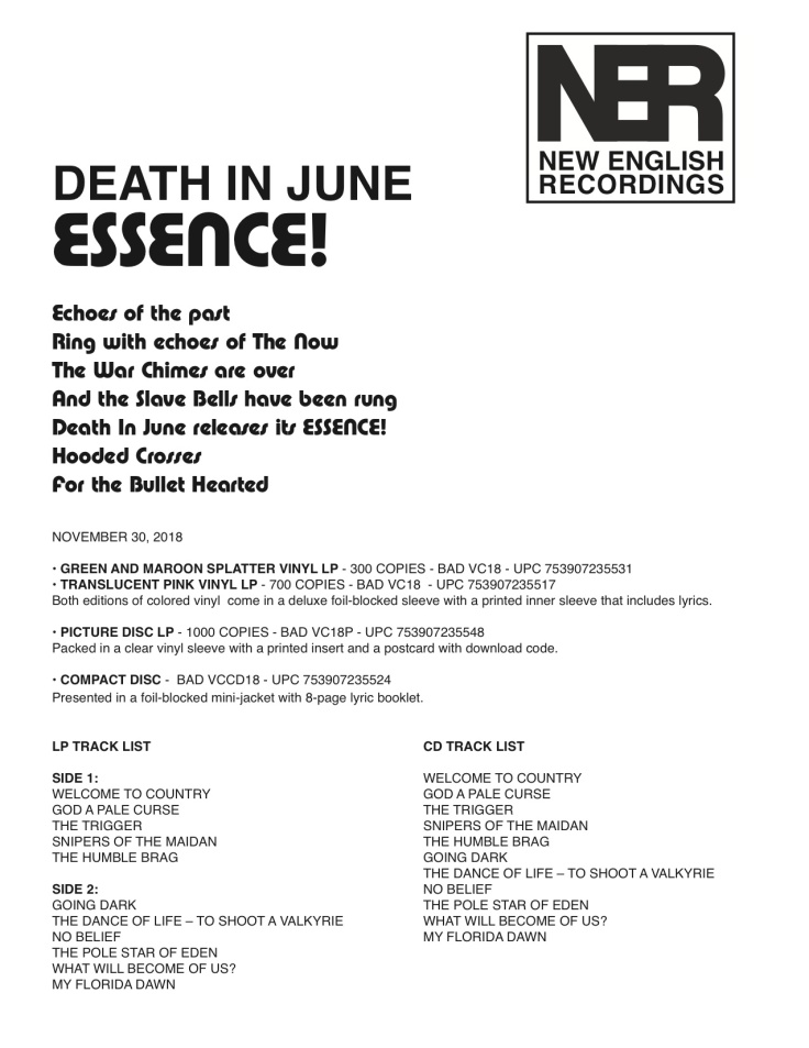 DEATH IN JUNE ESSENCE! BAD VC18 sales (1).jpg